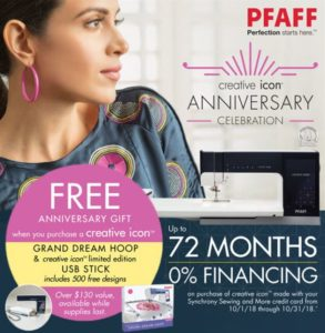 Graphic of PFAFF October Promo