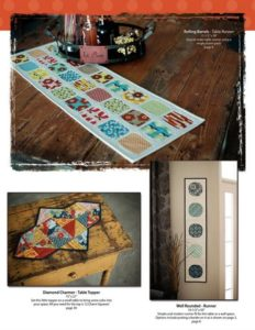 Photo of three projects in Fast and Furious Quilt as You Go book featured in November Sew Fun