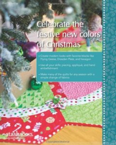Photo of back cover of Modern Christmas, book featured in November Sew Fun
