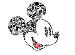 photo of Mickey Mouse embroidery design built in to the Brother Luminaire Xp1