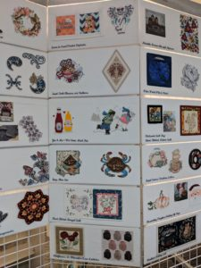 Panels showing different Anita Goodesign embroidery collections