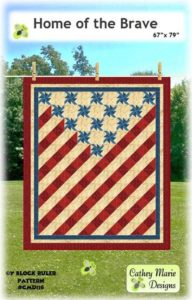 photo of pattern cover for Home of the Brave quilt shown in June Sew Fun