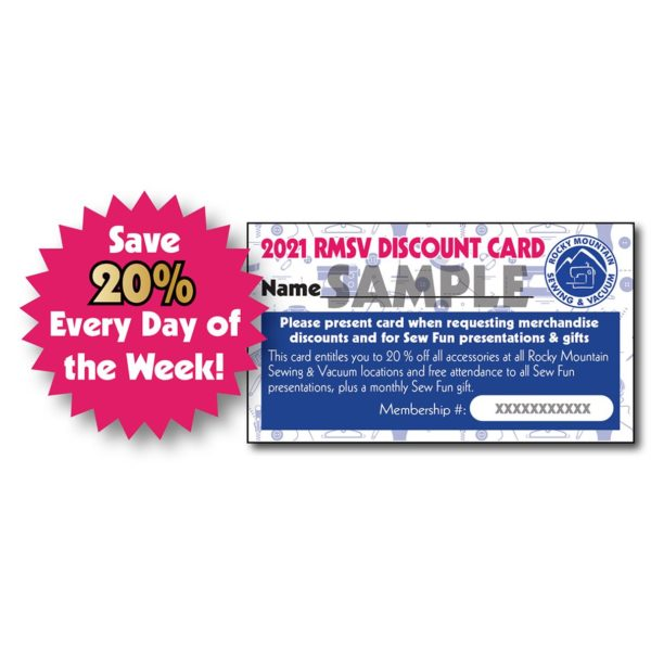 2021 RMSV Discount card