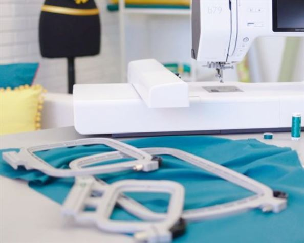 photo of bernette 79 sewing embroidery machine hoops