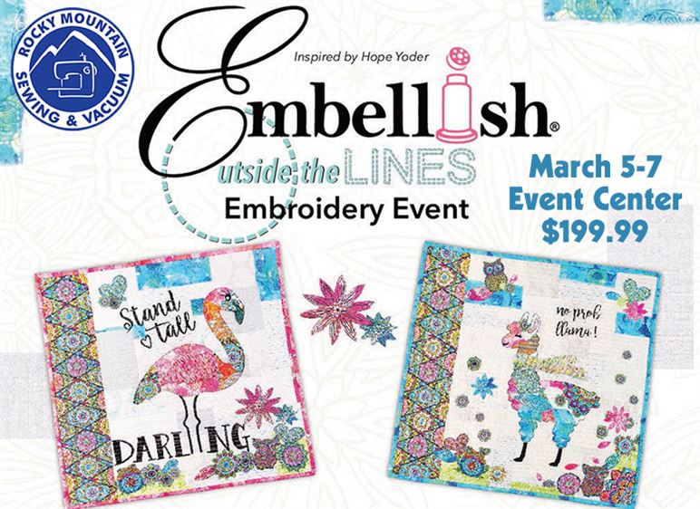 Graphic for Embellish March event