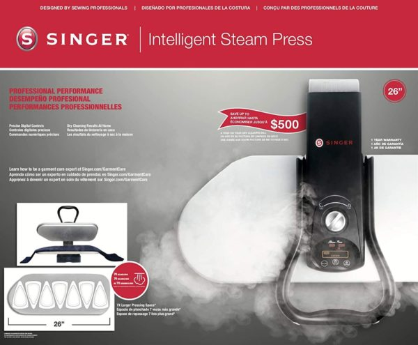 Singer steam press