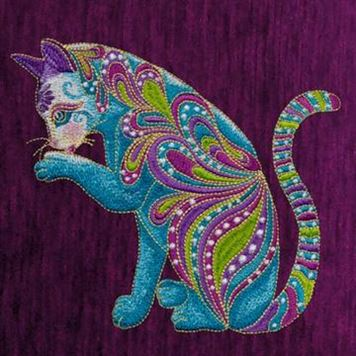Photo of one of the designs in Cat-i-tude by Ann Lauer on OESD