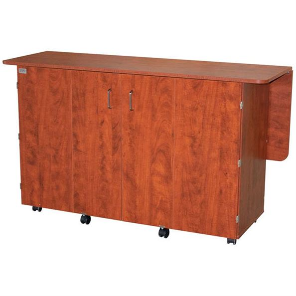 Horn 7600 Ultimate Sewing and Crafting Storage Center sunset maple closed