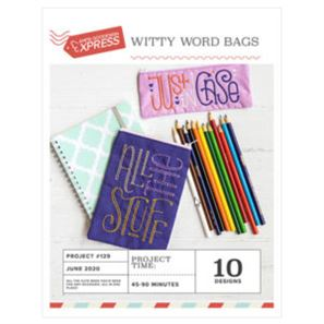 Anita Goodesign Witty Word Bags