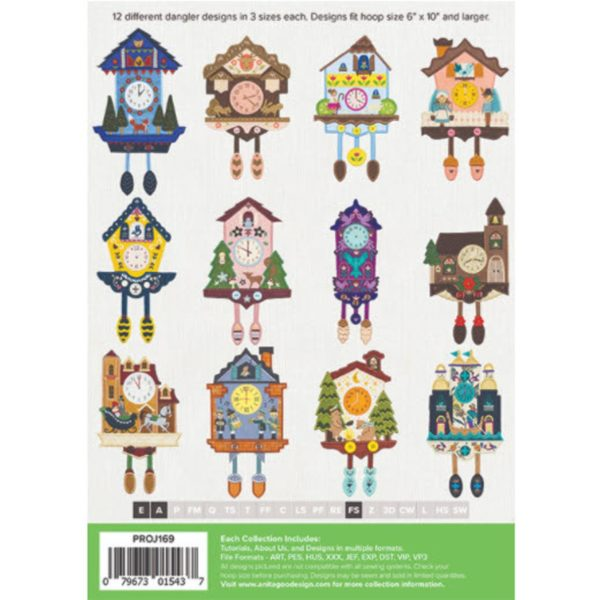 Anita Goodesign cuckoo clock danglers all designs