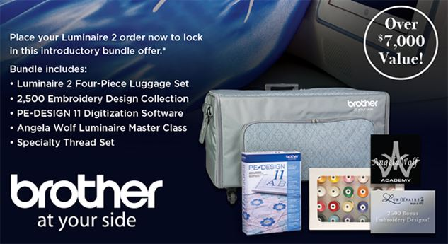 Brother Luminaire XP2 limited time bundle