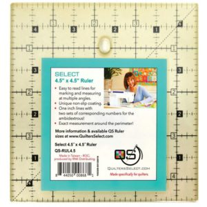 Quilter's Select 4.5 x 4.5 ruler